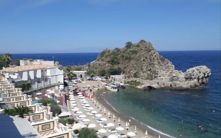 Over the blue in Taormina