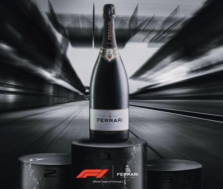 Le bollicine Ferrari Trento sul podio della Formula 1