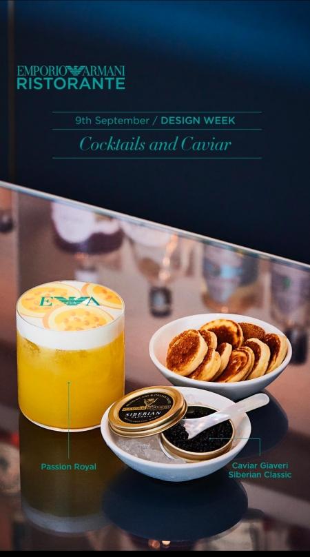 Caviar Giaveri all'Emporio Armani Caffè e Restaurant