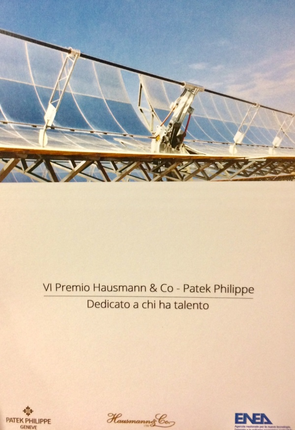 Il Premio �Hausmann & Co - Patek Philippe� ai giovani talenti